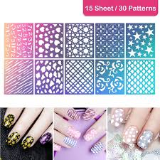 ETEREAUTY Nail Art Stamping Kit with 10 Manicure Plate set, Nair ...