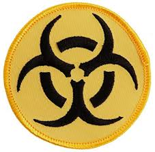 Arts Yellow-on-black amp; Patch Sewing Embroidered com Logo Symbol Crafts Amazon Iron-on Danger Biohazard