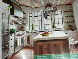 ... Interior Design, Rustic Kitchen Hardwood Floor Modern Rustic Flooring: Rustic  Kitchen Design and Living ...
