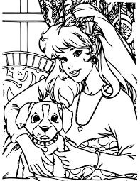 Kleurennu Barbie Met Lieve Hond Kleurplaten