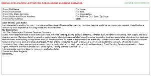 Sales Agent Application Letters Career Cover Letter