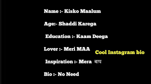 Cool Instagram Bio Bio Quotes For Instagram In Hindi 2018