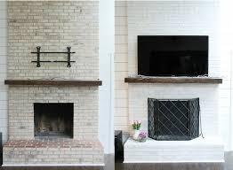 brick fireplace makeover for easy diy tutorial