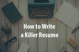 Perkins Co How To Write A Killer Resume