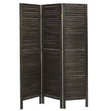 amazoncom rustic dark brown wood louvered panels freestanding