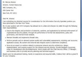 Cover Letter For Information Security Job Information Security