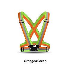 Elvy <b>Orange Green</b>, One Size : <b>Reflective</b> Strap Vest Belt High ...