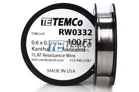 Kanthal A1 Wire Rw0332 0 6 Mm X 0 1 Mm 100 Ft 0 43 Oz Series A 1 Resistance