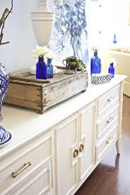 blue and white furniture. Painted Sideboard Buffet For The Dining Room. White Furniture. Amy Howard One Step Blue And Furniture