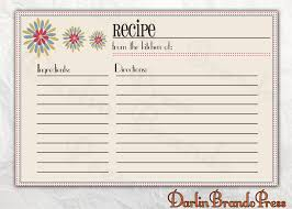 Christmas Recipe Card 5 X 7 Recipe Card Template For Word 6 Best Images Of Customizable