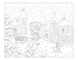 Winter coloring page for kids. 80 Best Winter Coloring Pages Free Printable Downloads