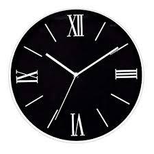 Foxtop Relojes De Pared Silencioso Grandes Originales Cocina Decorativas 12  Pulgadas Relojes De Pared Números Roman