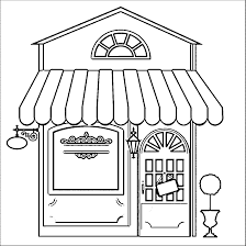 Small Picture Restaurant Building Coloring Pages Wecoloringpage Middle