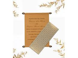 Buy Scroll Wedding Invitation Cards Online From