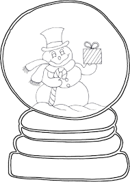 Small Picture Snow Globe Coloring Page Get Coloring Pages
