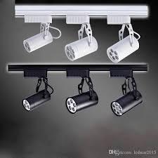 indoor track lighting black white led track lamp 3w 5w 7w 12w 18w led track lights 30 angle warm white led ceiling spot lights ac 85 265v