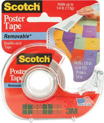 for scotch removable poster tape