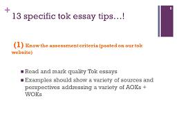tok essay essential guidelines ppt video online 13 specific tok essay tips