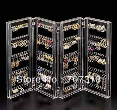 Earring Display Stands Wholesale Earring Holder Stand New Wholesale Folding Acrylic Jewelry Display 9
