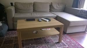 ikea 3 seater corner sofa bed holmsund with storage light brown biege