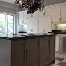 spray painted oak kitchen