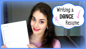 writing a dance resume kathryn morgan