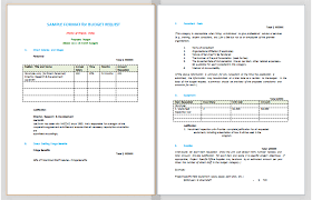simple budget proposal template budget proposal format sample budget templates