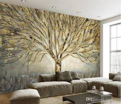 custom 3d wall murals wallpaper modern fashion abstract art relief oil painting tree living room tv background mural wall paper high definition widescreen