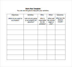 Work Plan Formats Work Plan Template 17 Download Free Documents For Word Excel Pdf