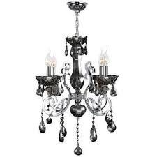 kronos 4 light chrome and smoke crystal medium chandelier