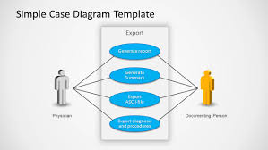 use case powerpoint diagram   slidemodelsimple use case diagram slide design for powerpoint