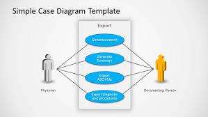 use case powerpoint diagram   slidemodelsimple use case diagram slide design for powerpoint