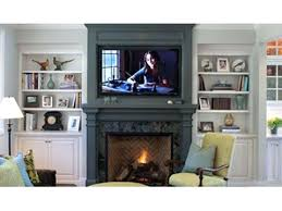 can a tv be mounted above wood burning fireplace safely mount flat screen television mantle cs gallery