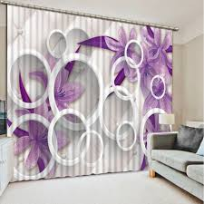 Purple Living Room Curtains Online Buy Wholesale Purple Print Curtains From China Purple Print