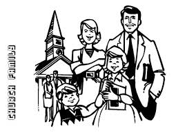 Small Picture Family Going to Church Coloring Page Coloring Sky