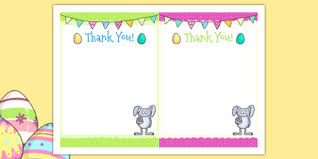 Thank You Easter Easter Party Thank You Cards Easter Party Thank You Cards