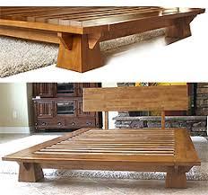 japanese bed frame. Wakayama Platform Bed Frame - Honey Oak Japanese