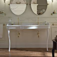 fabulous double console sink at palladio 150cm basin on ceramic legs old fashioned