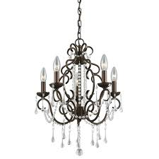 chandeliers portfolio 5 light chandelier candle with crystals in dark photo of 7 bronze