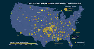 The Extraordinary Size Of Amazon In One Chart Visualizing Walmarts Domination Of The U S Grocery Market