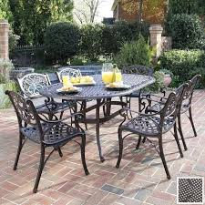 metal patio table wrought iron patio furniture elegant outdoor living metal patio table and chairs set