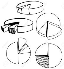 A Set Of Doodle Pie Chart Illustration