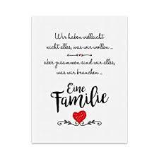 Kunstdruck Poster Mit Spruch Eine Familie Typografie Bild Auf