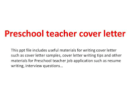 Early Childhood Assistant Cover Letter No Examples Child Care