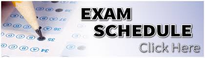 Image result for exam schedule
