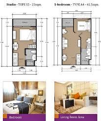 Floor Plan One Bedroom Condo Laguna Beach Maldives Pattaya