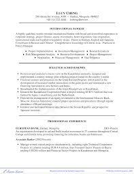 Banker Resume Sample Business Resume Sample Templates