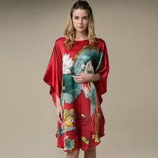 plus size silk robe buy designer printed womens plus size silk sleepwear online