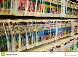 Medical Chart Shelves Medical Files Stock Image Image Of Chart Archive Office