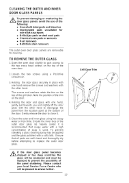 cleaning the outer and inner door glass panels glass electrolux edb710 user manual page 27 48